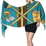 Photo de Yuanmeiju Écharpe à pampilles Propagandhi Comment tout nettoyer Lady Classic Écharpe surdimensionnée Long Châle Wraps Grands Foulards Cadeaux