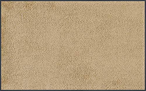 wash+dry Fußmatte, Sahara 75x120 cm, innen und außen, waschbar, Beige