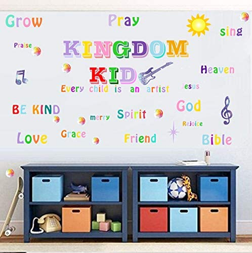 Kingdom Kid Wall Decals Inspirational Wall Quote Wall Decals Positive Quote Wall Sticker Classroom product image