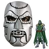 Dr Doom Latex Mask Super villain Fantastic Four Victor von Doom Helmet Cosplay Props