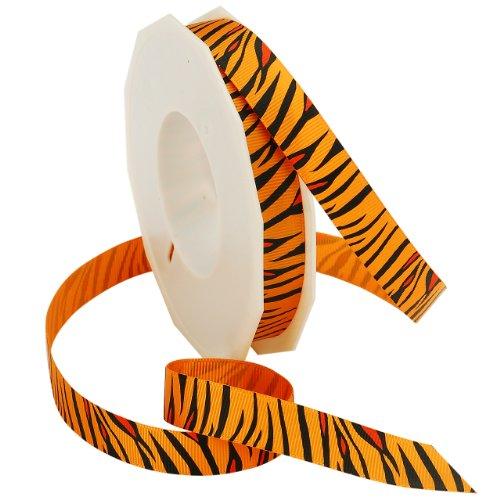 Morex Ribbon Tiger Ribbon, 5/8-Inch by 20-Yard, Orange
