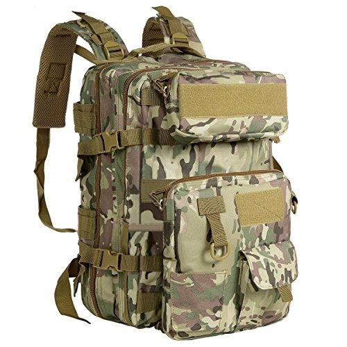 G4Free Sac à Dos 40L Militaire Tactique Molle Imperméable avec Pochette Amovible pour Randonnée Camping Trekking Chasse