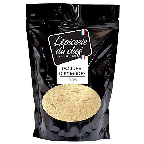 Epicerie du Chef - Poudre d'Amandes Extra-Fine 500g - Spéciale Pâtisserie, Macarons - Sachet Ingrédient Cuisine pour Desserts, Gâteaux, Biscuits - EDC8661