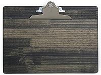 国内産 A4木製クリップボード横 (ブラック)