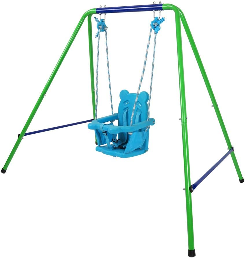 BATEER Baby Swings 高品質新品 Set My Toddler Play First Swing Metal まとめ買い特価