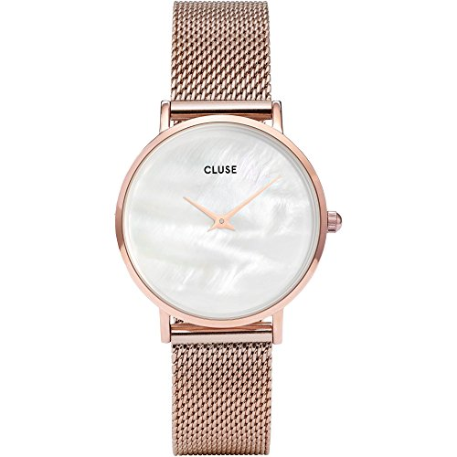 Cluse Damen Analog Quarz Uhr mit Edelstahl Armband CL30047