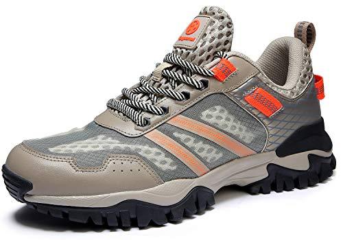 Eagsouni Laufschuhe Herren Damen Traillaufschuhe Sportschuhe Turnschuhe Sneakers Schuhe für Outdoor Fitnessschuhe Joggingschuhe Straßenlaufschuhe, Beige B, 42 EU