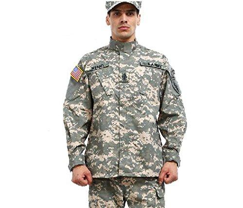 Noga, tuta mimetica, tuta militare stile mimetico, per caccia, simulazioni di guerra, paintball, maglia e pantaloni, Acu Camo, XXL