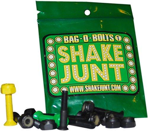 "Shake Junt Bag O Bolts Black Green Yellow 1""(allen) 1set Skateboarding Hardware"