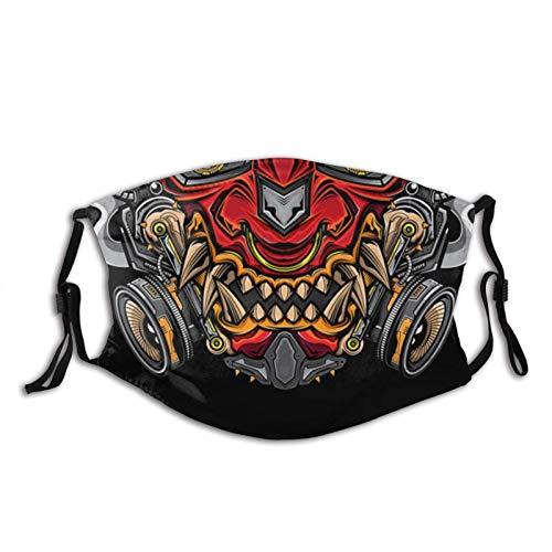 Máscara facial japonesa Samurai Oni a la moda, a prueba de polvo, transpirable, reutilizable, ajustable, lavable, máscara japonesa de Hannya Oni