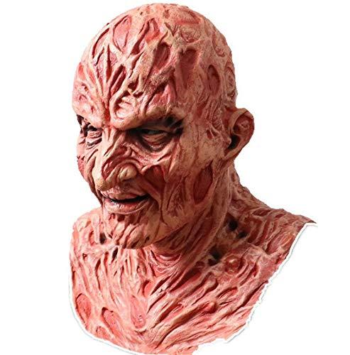 ZRSH Máscara de Fre_ddy Krue_Ger Mask Guy Fawkes Mascara de Halloween Máscara de Mascaras de Terror para Niños y Adulto Fiesta de Halloween Disfraz Carnaval