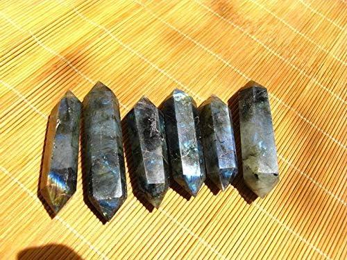 Decor Stone Spasm price 6 Natural Labradorite Crystal Points Direct store Quartz Double