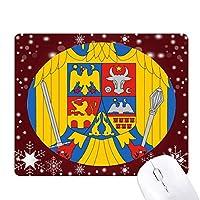 ルーマニア国家エンブレムの国 オフィス用雪ゴムマウスパッド