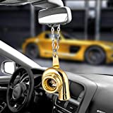 Constelación Turbo Ornamentos Colgantes Colgante de Coches Auto Interior Hip-Hop turbocompresor automático del Espejo retrovisor Decoración cuelgan Ajuste Accesorio (Color Name : Gold)