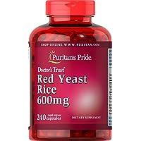 240-Count Puritans Pride Red Yeast Rice Capsules