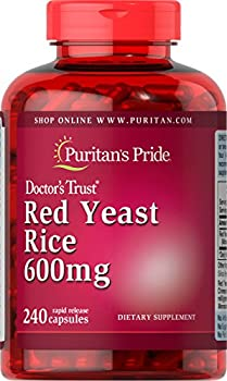 Puritan s Pride Red Yeast Rice 600 Mg 240 Count