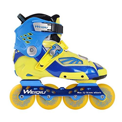 Taoke Professioneller Roller Skates, Rollschuh, Skate Set, Profi-Spieler Bremsschuh (Farbe: blau) dongdong (Color : Blue)