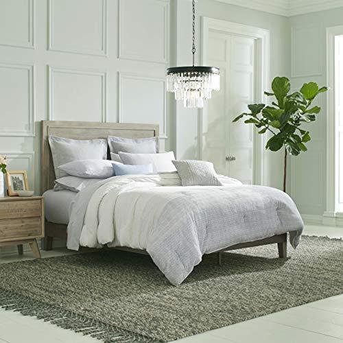 Nautica Seaford Comforter Set, Full/Queen, Grey (Best Temps Seaford De)