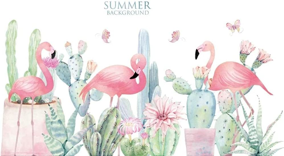 Summer Flamingo Wall Stickers for Room Living Bedroom Kids Fort Ranking TOP19 Worth Mall