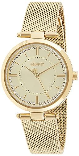 Esprit ES1L251M0055 Zea Uhr Damenuhr Edelstahl vergoldet 5 bar Analog Gold