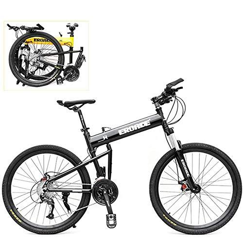 Bicicleta De Montaña Plegable, Bicicleta Todoterreno Con Ruedas Antideslizantes De 29 Pulgadas,...