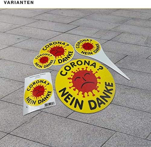Betriebsausstattung24 Corona Nein Danke Auto Aufkleber Atomkraft Nein Danke Sticker Fürs Auto Folie 10 0 Cm Auto