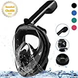 MOUNTDOG Snorkel Mask Full Face Snorkeling Mask with Panoramic View and Action Camera Mount,Anti-Fog and Anti-Leak Design Dive Mask for...