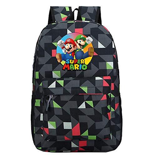 Super Mario Mochilas Infantiles Mochila de Ocio Bolsa de Viaje Mochila al Aire Libre Mochila Escolar Caricatura Impresa Mochila (Color : A9, Size : 30 x 12 x 45cm)
