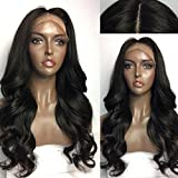 Kerrywigs 180 Density Silk Base Full Lace Human Hair Wigs Natural Hairline Brazilian Hair Glueless Silk Top Loose Wave Lace Front Wigs Baby Hair For Black Women (24inch, Lace Front Wig)