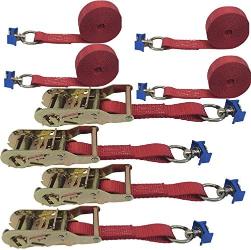 Cargo Inventory cleanup selling sale Equipment Corp. 4 Pack of L-Track Straps Ratchet with 1in Ranking TOP5