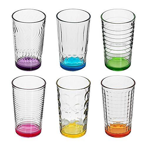 :conic Trinkglas 6er Set Longdrinkglas Wasserglas Longdrink Glas 330 ml montana