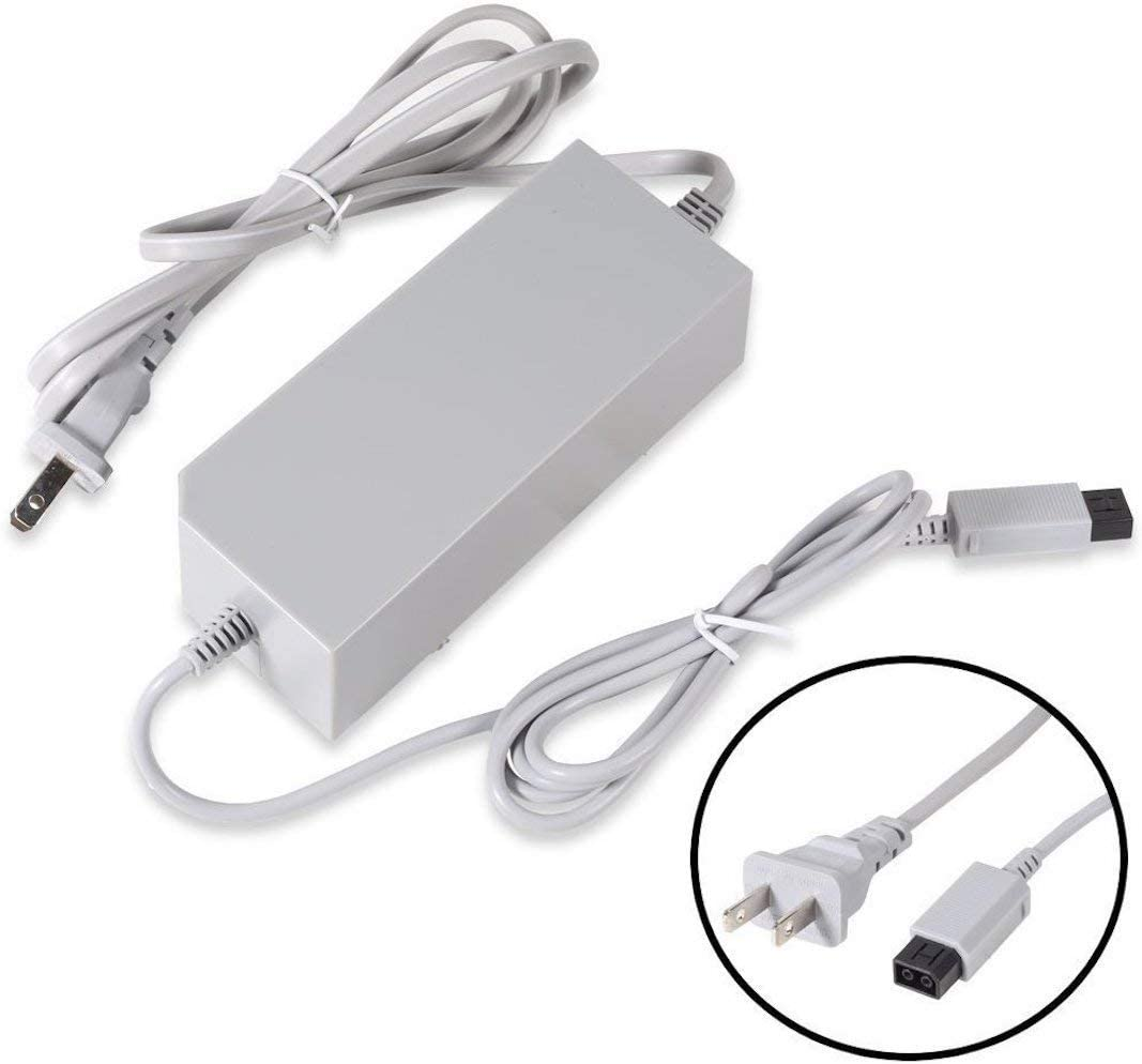 Wii Power Supply, 12V 3.7A AC Adapter Power Cord Replacement for Wii Console rvl-001