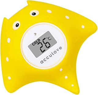 Sponsored Ad – Acculove Bath Thermometer Baby Safety and Floating Bath Toy Bathtub Temperature Thermometer Yellow Fish Onl...
