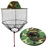 HIMETSUYA Insect Against Mosquitoes Mask Camouflage Cappello da Sole Cappello da Pescatore Cappello...