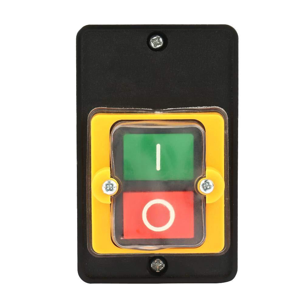 FTVOGUE Interruptores Pulsadores AC220V / 380V 10A Caja de Control de Parada de Arranque Impermeable