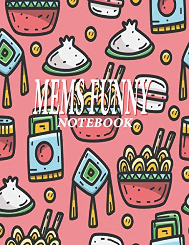 Mems Funny Notebook: Notebook for Drawing, Writing, Painting, Sketching or Doodling, 100 Pages, 8.5x11 (Premium Abstract Cover vol.4)