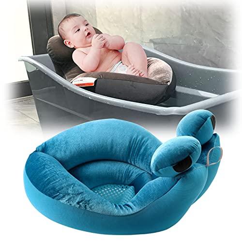 EASICOZI Cute Shape Baby Bath tub, Soft Sink Bather, New Born Bath Mat (Blue)