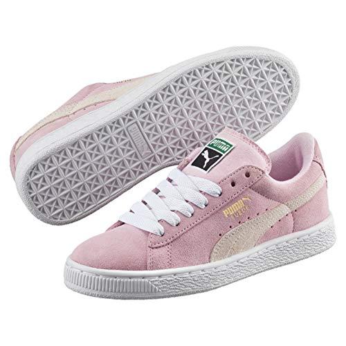Puma Suede, Unisex-Kinder Sneakers, Pink (pink lady-white-team gold 30), 38 EU (5 Kinder UK)