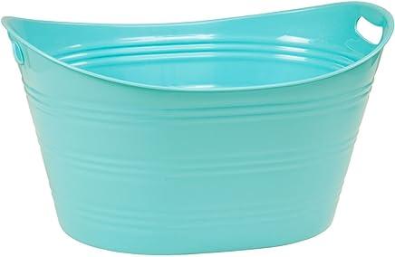 CreativeWare PTUB-PB Powder Blue 8.5 Gallon Party Tub