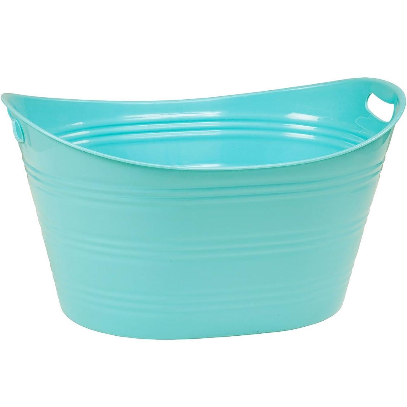 CreativeWare PTUB-PB Powder Blue 8.5 Gallon Party Tub,