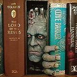 Dheera Estante de livros personalizados, estante realista, estante de livros assustadores, escultura de resina ornamentos para colecionar álbuns de CD, revistas, livros pesados (C)