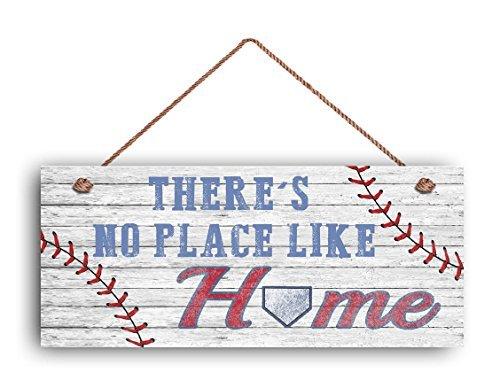 There's No Place Like Home signer pour papa, un panneau de baseball, cadeau pour papa, style rustique, 6 et (X 14 et (Panneau, panneau de sports, DE Baseball Panneau en bois.
