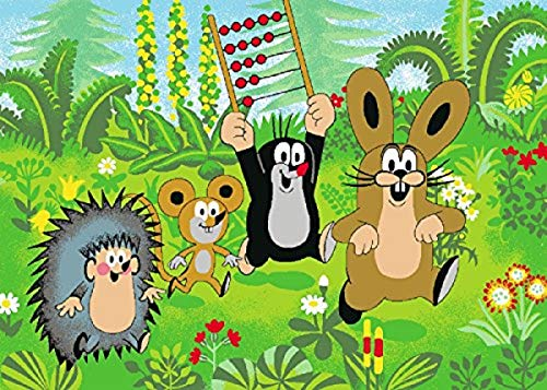 Bavaria Home Style Collection Kinder Teppich mit Pauli Der kleine Maulwurf - mit seinen Freunden - Maus - Hase