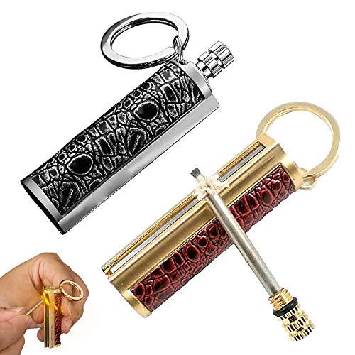 Yoruii Dragon's Breath Immortal Lighter - Metal Keychain Flint Match Stick Kerosene Refillable Lighter,Waterproof Keychain Lighter for Emergency Survival Mountaineering Camping Hiking