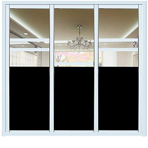 Fensterfolie Schwarz, Hifina Fensterfolie Sichtschutzfolie Schwarz / Fenster Folie Selbstklebend / Fensterfolie Sichtschutz (90 * 200cm)