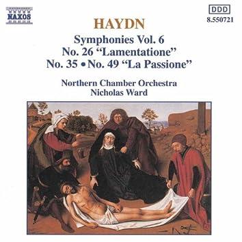 HAYDN: Symphonies, Vol.  6 (Nos. 26, 35, 49)