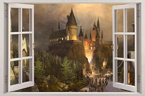 Hogwarts Harry Potter 3D Window View Decal Graphic Wall Sticker Art Mural H322 Large product image