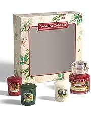 Yankee Candle - Juego de 3 velas aromáticas navideñas (3 velas aromáticas)