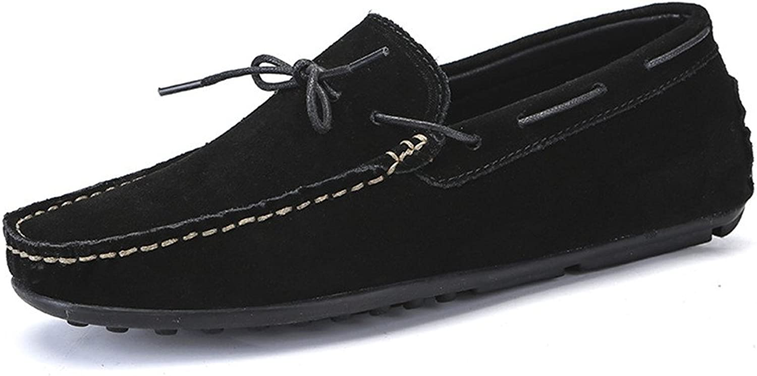 Z.L.F Men's Oxford shoes Driving Loafers Suede Genuine Leather Penny Moccasins Rubber Studs Sole Boat Fashion shoes