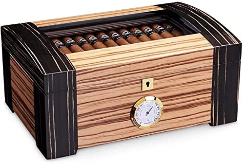 ZHICHUAN Humidor Cedar Wood Double Layer Large Capacity Cigar Moisturizing...